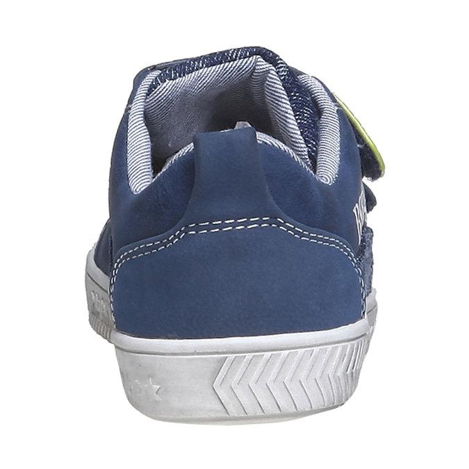 Dětské tenisky na suché zipy mini-b, modrá, 211-9157 - 17