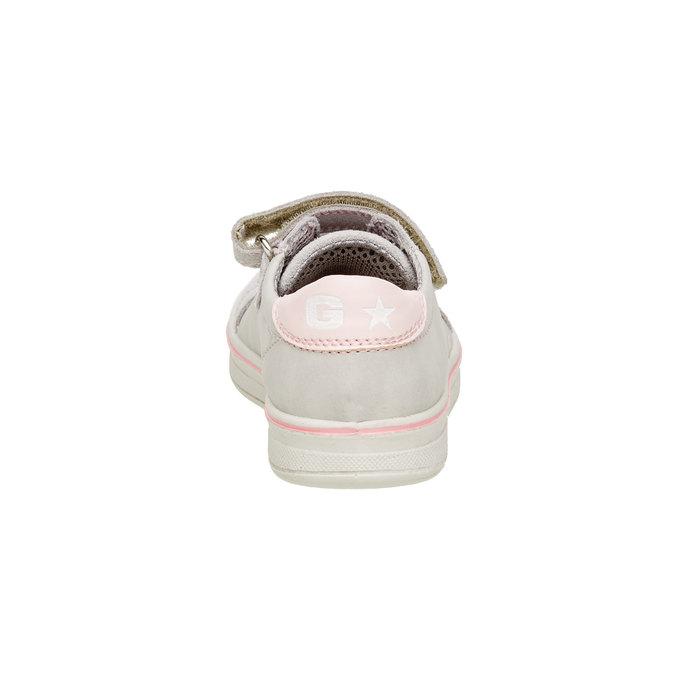 Dětské kožené tenisky mini-b, šedá, 323-2120 - 17