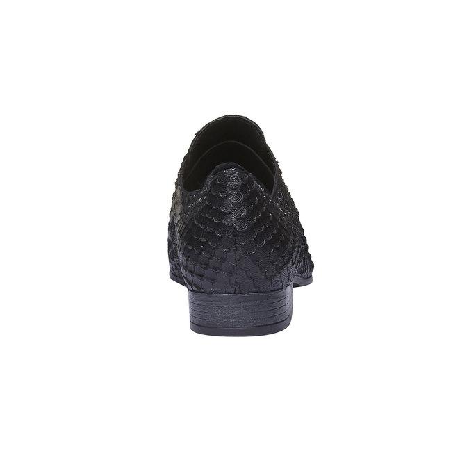 Dámské kožené polobotky bata, černá, 514-6212 - 17
