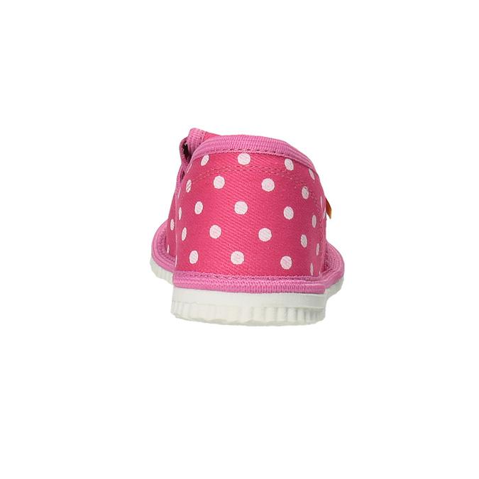 Dívčí domácí obuv s puntíky bata, růžová, 279-5103 - 17