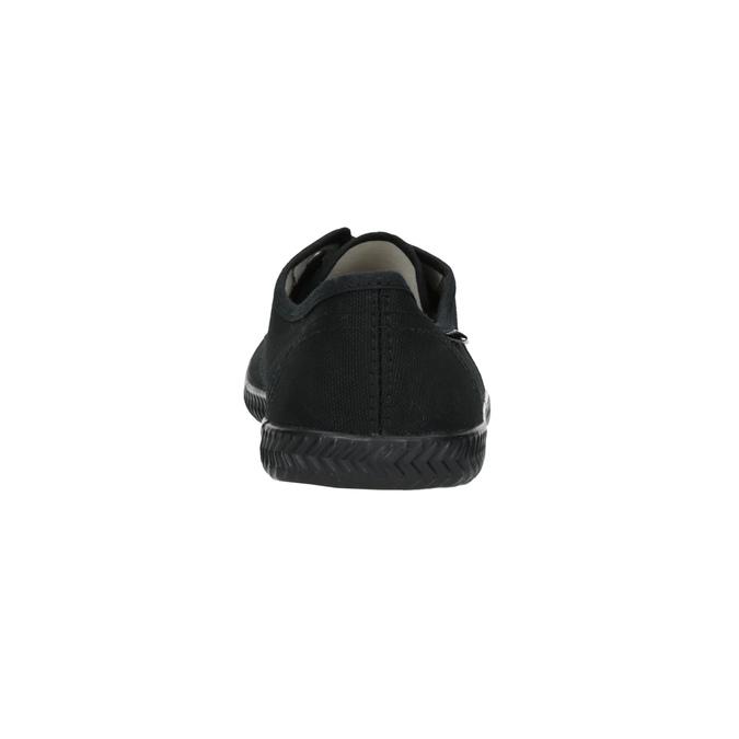 Černé textilní tenisky tomy-takkies, černá, 519-6691 - 17