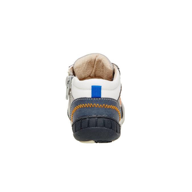 Kotníčkové boty se zipem mini-b, šedá, 111-2100 - 17