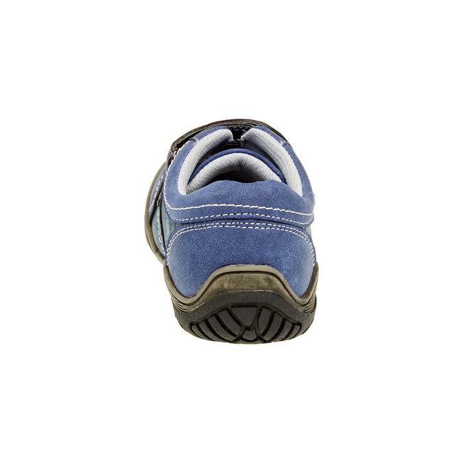 Dětské ležérní tenisky na suchý zip mini-b, modrá, 311-9212 - 17