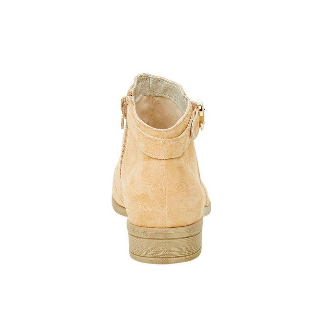Kotníčkové kozačky z broušené kůže bata, béžová, 593-8402 - 17