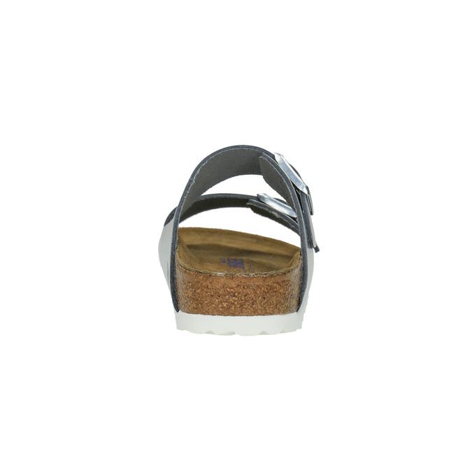 Stříbrné kožené nazouváky birkenstock, stříbrná, 566-2002 - 17