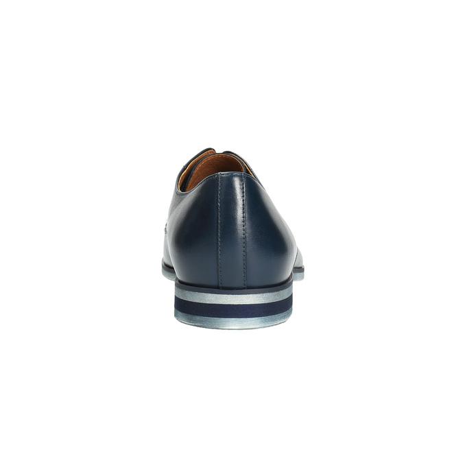 Modré kožené polobotky conhpol, modrá, 824-9733 - 17
