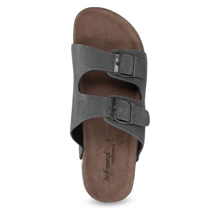 Pánská domácí obuv de-fonseca, šedá, 873-2610 - 17