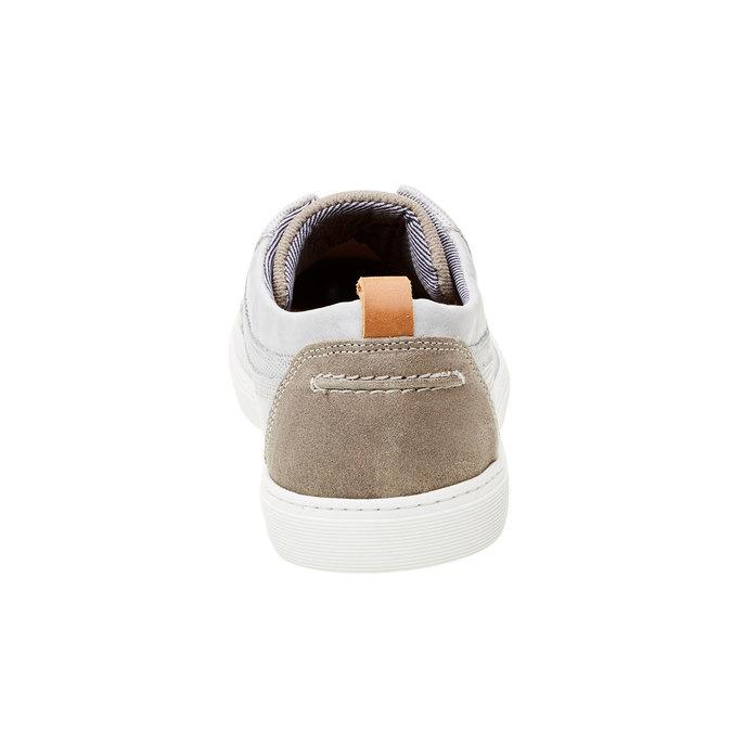 Ležérní kožené tenisky bata, šedá, 844-2310 - 17