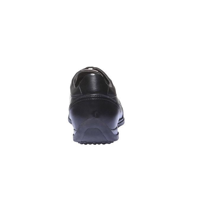 Kožené tenisky s koženou podšívkou air-system, černá, 824-6277 - 17