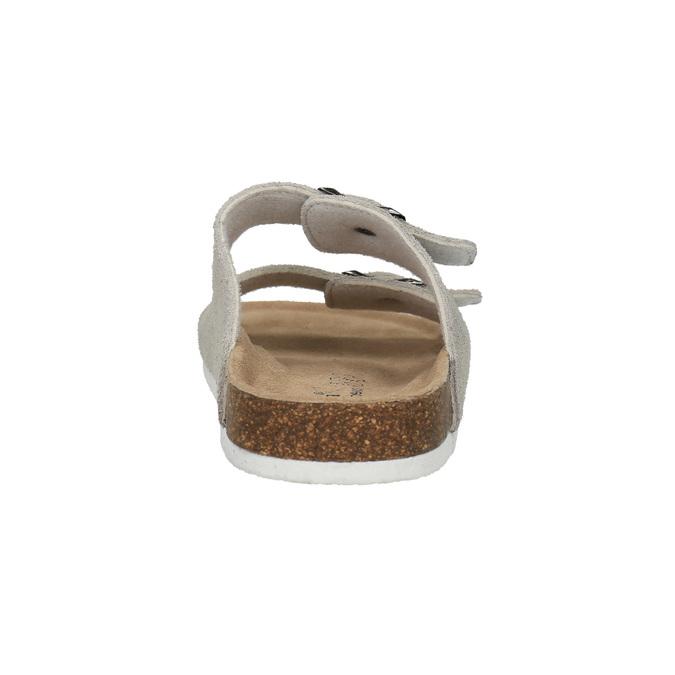 Dámské kožené pantofle de-fonseca, béžová, 573-8620 - 17