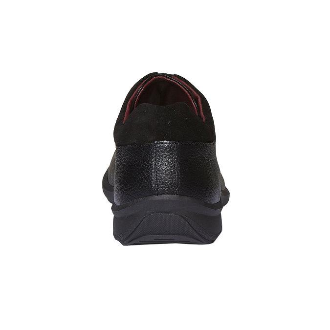Kožené pánské polobotky comfit, černá, 824-6315 - 17