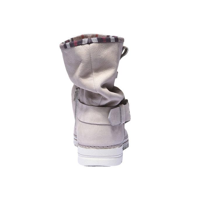 Kožená obuv s barevným lemem weinbrenner, 596-8311 - 17