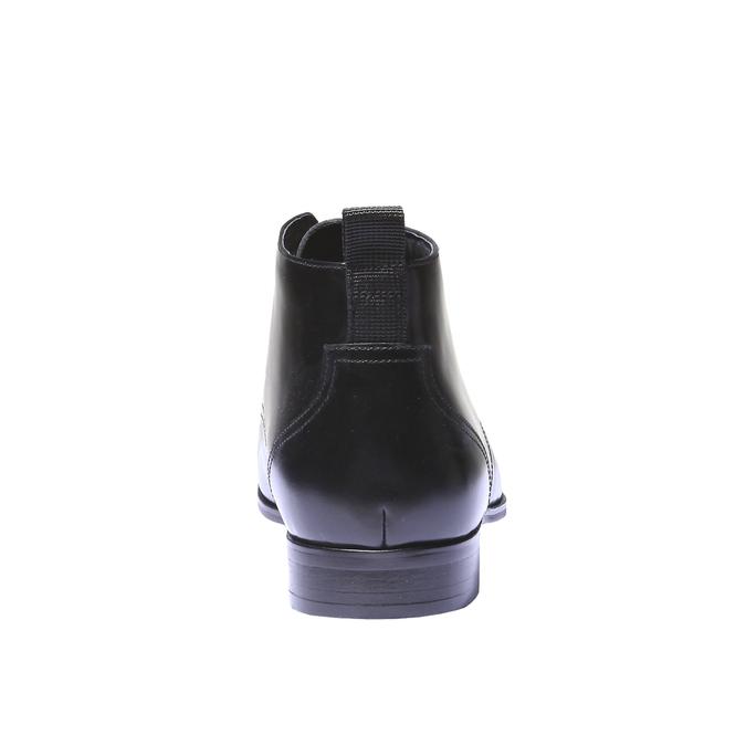 Kožená kotníčková obuv bata, černá, 894-6144 - 17