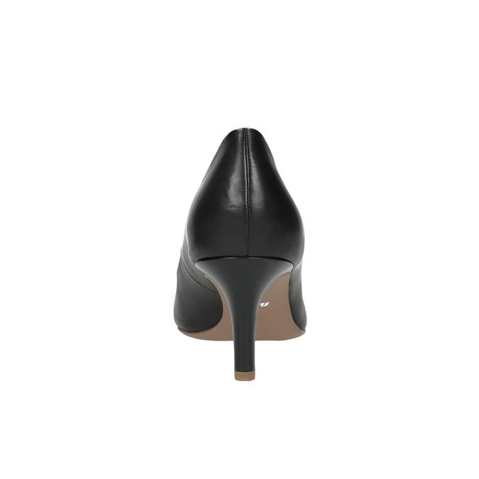Černé kožené lodičky s měkkou stélkou bata, černá, 624-6388 - 17