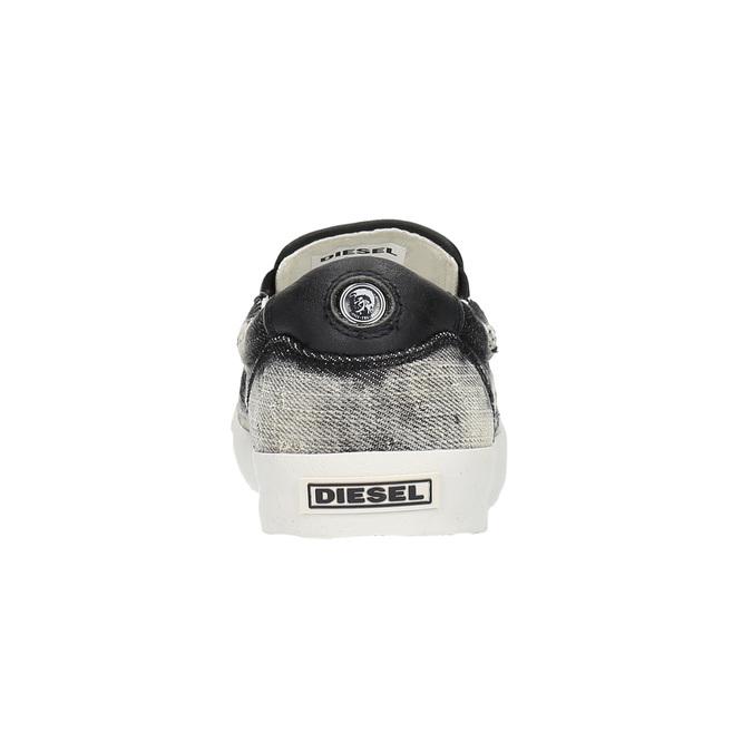 Denimové Slip on boty diesel, šedá, černá, 889-6116 - 17