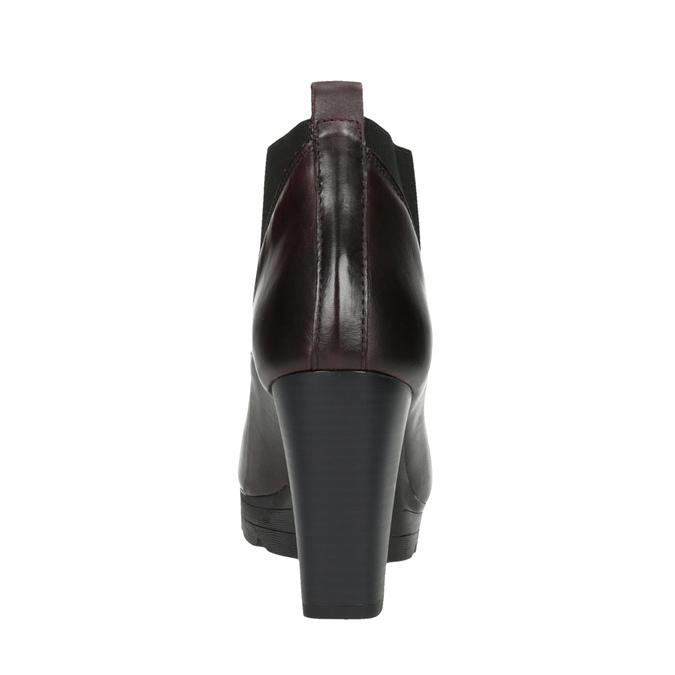 Kožená kotníčková obuv na vysokém podpatku bata, 796-5605 - 17