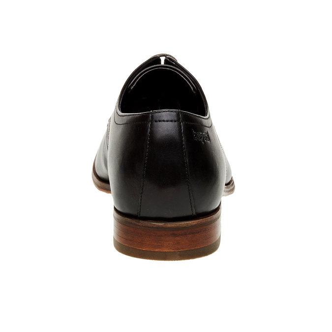 Kožené polobotky v Derby střihu bugatti, černá, 824-6303 - 17