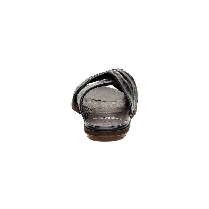 Kožené nazouvací sandály vagabond, černá, 564-6018 - 17