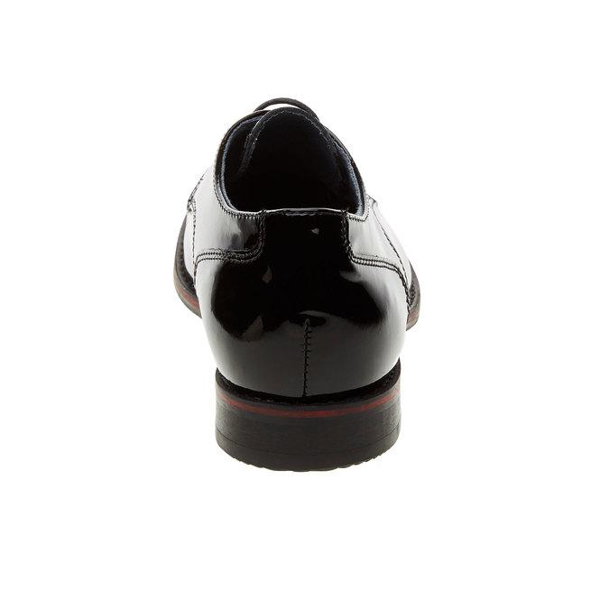 Dámské polobotky z lakované kůže bata, černá, 528-6117 - 17