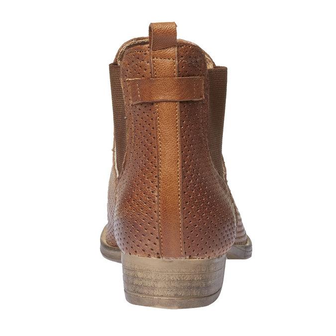 Kožené kotníčkové kozačky v Chelsea stylu bata, hnědá, 594-3546 - 17