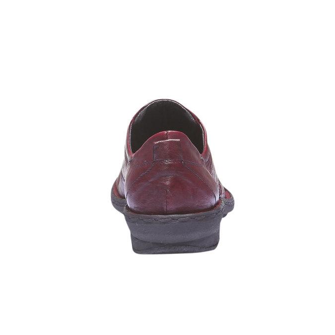 Dámská kožená obuv bata, červená, 624-5111 - 17