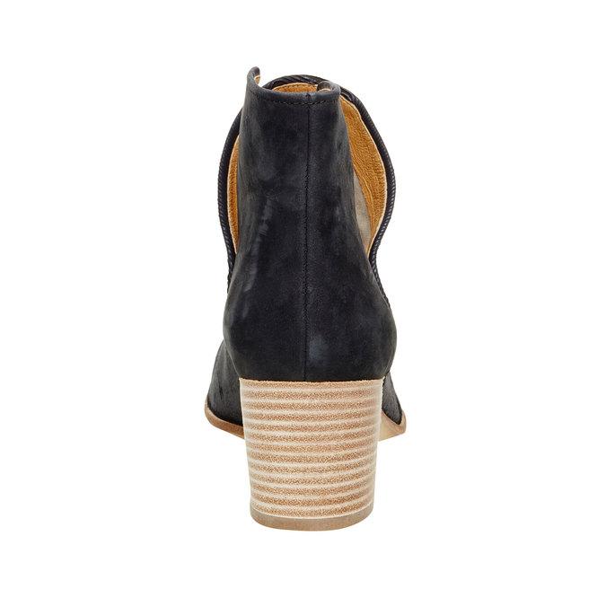Kožené kotníčkové kozačky bata, modrá, 696-6110 - 17