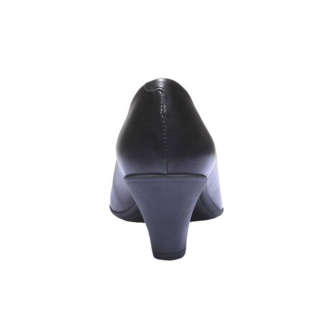 Kožené lodičky flexible, černá, 624-6221 - 17