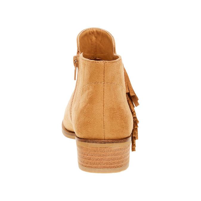 Kotníčkové kozačky s třásněmi bata, hnědá, 599-3102 - 17