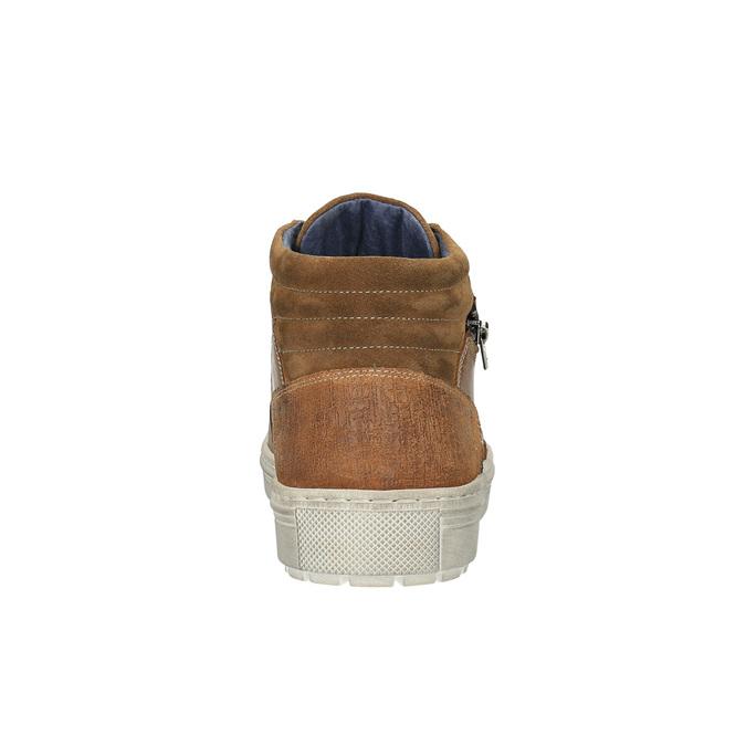 Pánské kotníčkové tenisky bata, hnědá, 826-3650 - 17