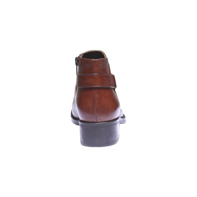 Kožené kotníkové boty s páskem bata, hnědá, 694-3159 - 17