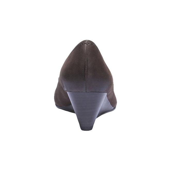 Kožené lodičky s prodlouženou špičkou bata, hnědá, 626-4103 - 17
