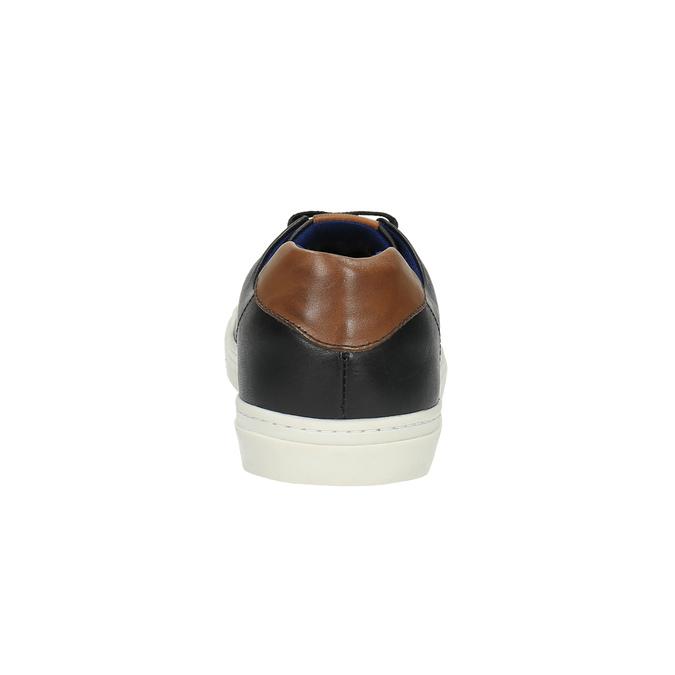 Pánské kožené tenisky bata, černá, 844-6626 - 17