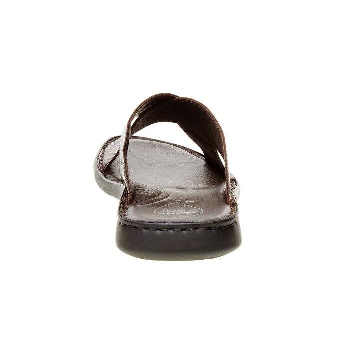 Pánské kožené nazouváky comfit, hnědá, 874-4161 - 17