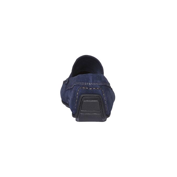 Pánské kožené mokasíny bata, modrá, 853-9180 - 17