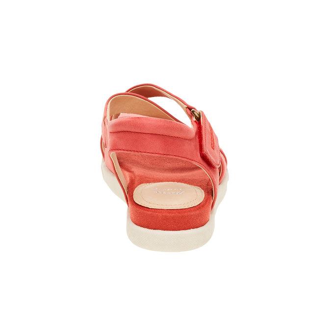 Dámské červené kožené sandály bata, červená, 564-5351 - 17