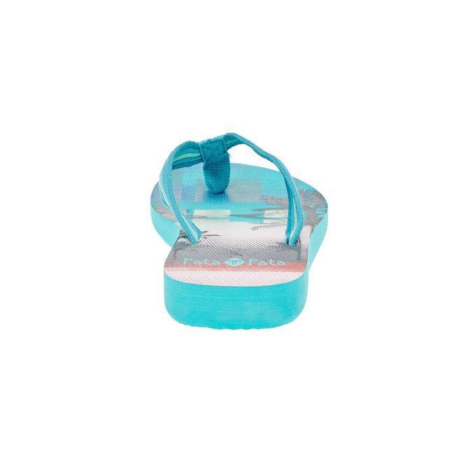 Dámské žabky pata-pata, modrá, 581-9600 - 17