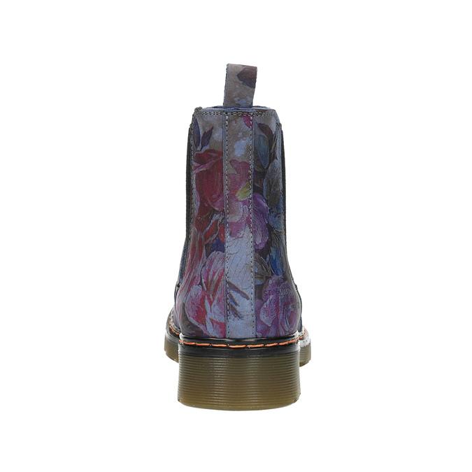 Kožené Chelsea Boots s květinovým vzorem bata, modrá, 596-9620 - 17