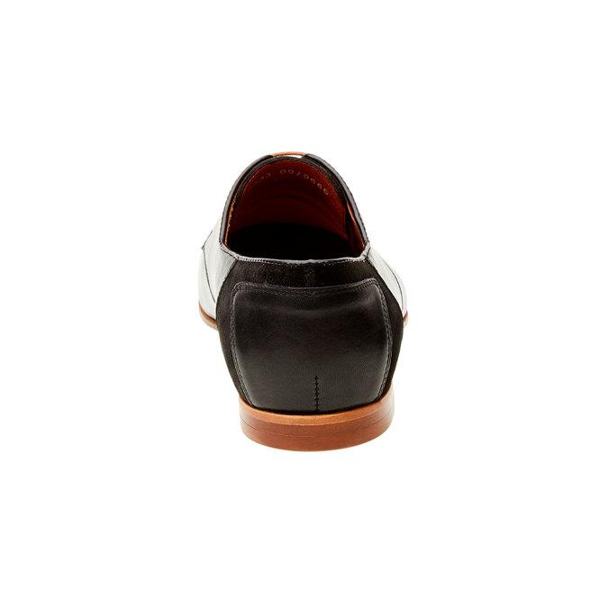 Pánské kožené polobotky conhpol, černá, 826-6501 - 17