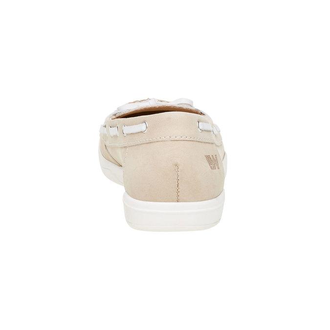 Dámské kožené mokasíny weinbrenner, béžová, 534-8116 - 17