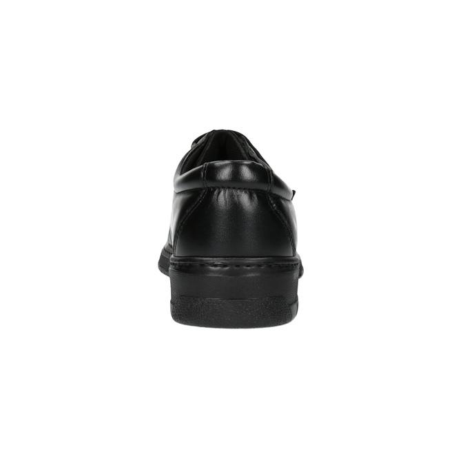 Kožené pánské polobotky pinosos, černá, 824-6770 - 17