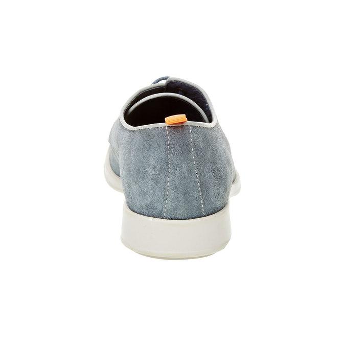 Pánské polobotky z broušené kůže flexible, modrá, 823-9709 - 17