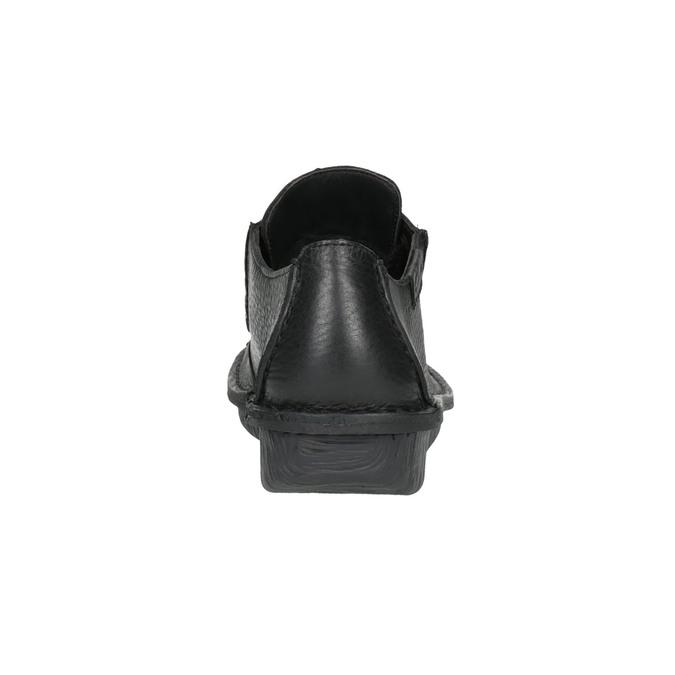 Ležérní kožené polobotky clarks, černá, 624-6004 - 17