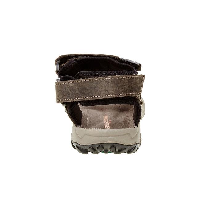 Pánské kožené sandály weinbrenner, hnědá, 866-2106 - 17
