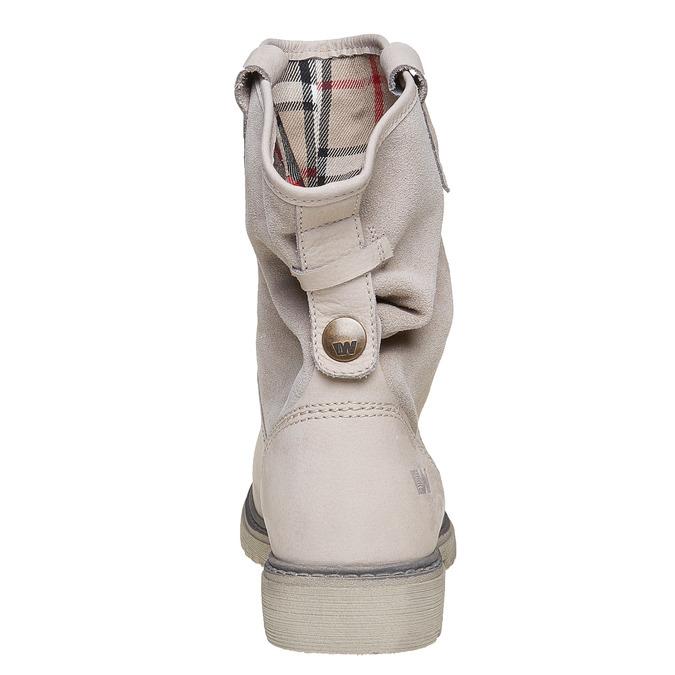 Kožená kotníčková obuv weinbrenner, béžová, 596-8405 - 17