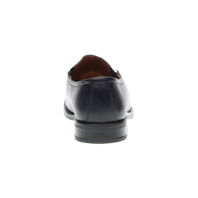 Pánské kožené polobotky bata, černá, 814-6142 - 17