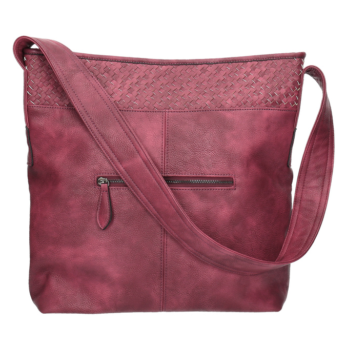Vínová kabelka s dlouhým uchem bata, červená, 961-5600 - 26