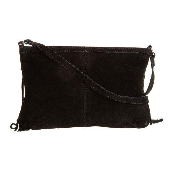 Kožená Crossbody kabelka s třásněmi bata, černá, 963-6120 - 26