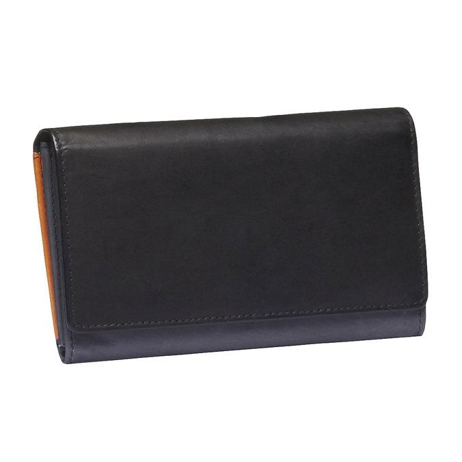 Dámská kožená peněženka bata, černá, 944-6156 - 13