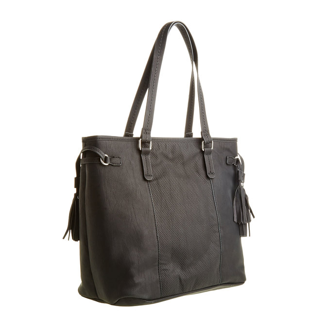 Dámská kabelka se střapci bata, černá, 961-6762 - 13