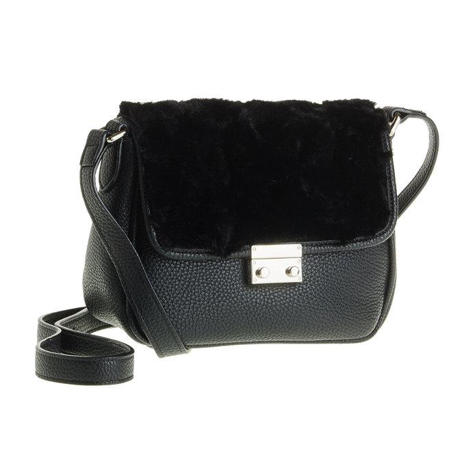 Crossbody kabelka s kožešinkou  bata, černá, 961-6656 - 13